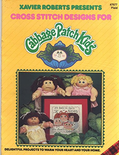 Xavier Roberts presents cross stitch designs for Cabbage Patch Kids (Cabbage Kids Xavier Patch)