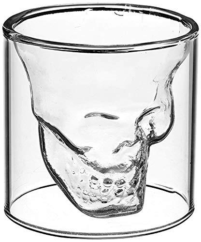 LUCKSTAR Crystal Skull Shotglass - Double Wall Transparent