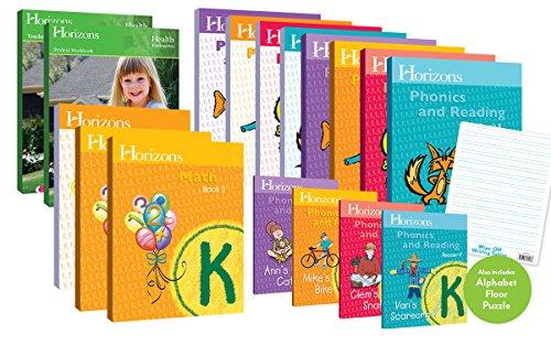 Horizons Homeschool Curriculum Kindergarten Grade K, Complete Set (Set Includes: Math, Health, Phonics & Reading) (Best Curriculum For Kindergarten)