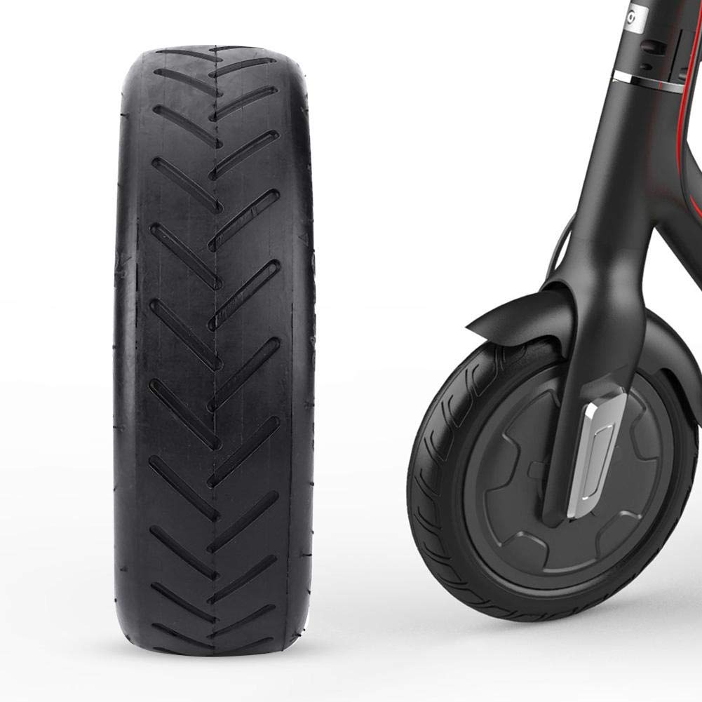 Alomejor Electric Bicycle Solid Rubber Tires Tire Wheel Replacement Hollow Tyres for Xiaomi Mijia M365