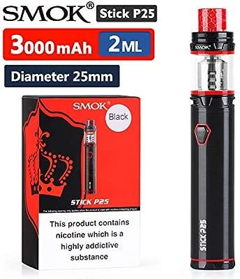 GENUINO SMOK STICK PRINCE TFV12 3000 mAh E-cigarrillo (Negro) con TFV12 PRINCE TANK 2mL Incluido PEACEVAPE™ Vape Band Sin Tabaco y Sin Nicotina