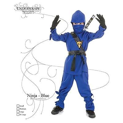Underwraps Costumes Children's Blue Ninja Costume, Medium 6-8 Childrens Costume: Clothing