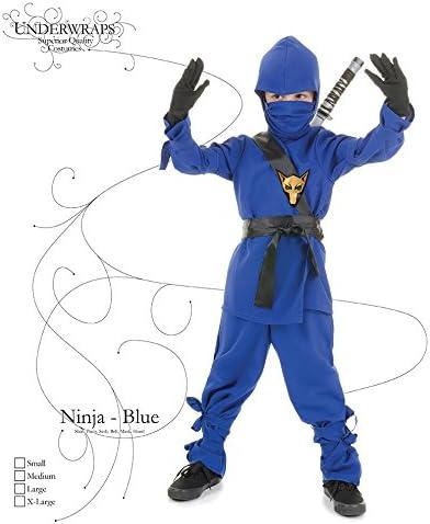 Underwraps Costumes Childrens Blue Ninja Costume, X-Large 14-16 Childrens Costume