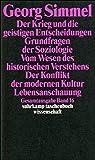 Gesamtausgabe in 24 Bänden: Band 16: Der Krieg und die geistigen Entscheidungen. Grundfragen der Soziologie. Vom Wesen des historischen Verstehens. ... (suhrkamp taschenbuch wissenschaft)