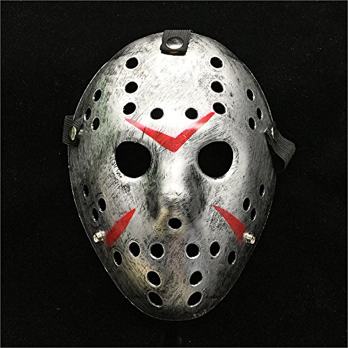 Letsparty Halloween Costume Horror Hockey Mask Party Cosplay Props (silver)