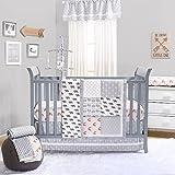 Grey Woodland Bear and Fox Baby Crib Bedding - 20 Piece Nursery Essentials Set