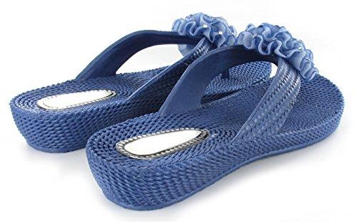 Ella Dani Damen-Strand-Sandale, Komfort, Größen 35,5-40,5 Navy
