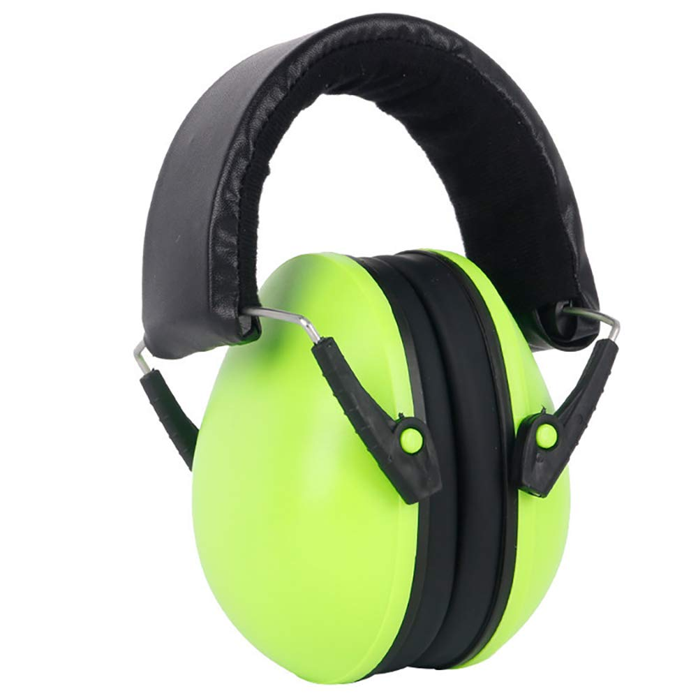 Ear Muffs, Earmuff Guard SNR 36dB Noise Reduction Safe Hearing Protection Adjustable Folding Noise Reduction Earmuffs For Reading Learning For0-3 Year Old ,Earmuffs with Headband ( Color : Green ) by Quisilife