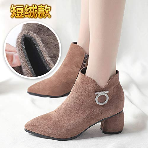 Im Herbst Herbst Herbst der weiblichen Stiefel EIN Stiefel Retro Stiefel Mädchen in England mit der Spitze des high-Heel Schuhe effa7d