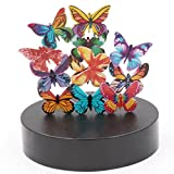 AblueA Magnetic Sculpture Desk Toy Coffee Table Piece As Office Gift Stocking Stuffer (Oval Base - Butterflies)