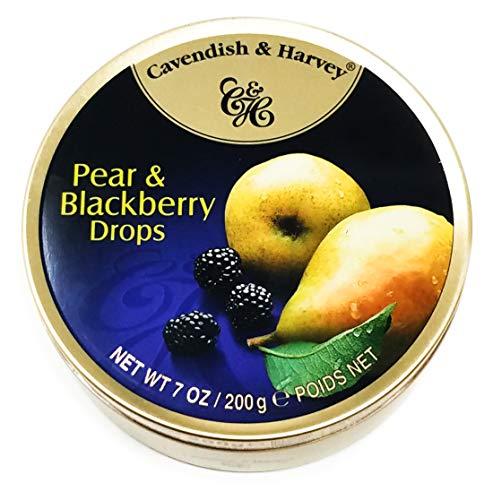 Cavendish & Harvey Pear & Blackberry Drops 7oz, Metal Tin