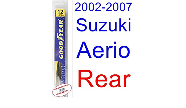 Suzuki Aerio - Juego de limpiaparabrisas de repuesto para Suzuki (2003, 2004, 2005, 2006): Amazon.es: Coche y moto