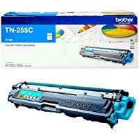 Brother Genuine TN255C High-Yield Printer Toner Cartridge, Cyan, Page Yield Up to 2200 Pages, (TN-255C) Compatible with…