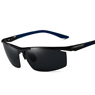 Sonnenbrille Männlich Polarisierte Sonnenbrille Anti-UV Stabile Aluminium Magnesium Legierung Rahmen PG1op