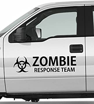 Zombie Gas Skull Dead Biohazard Outbreak Team Decal Car Truck Hood Vinyl Sticker