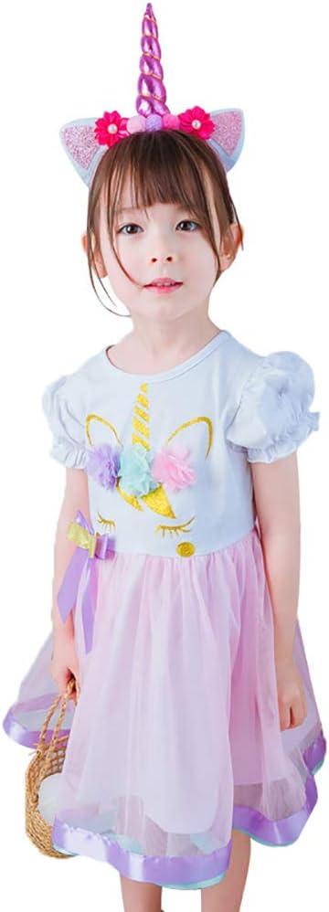 ClothHouse Disfraz De Unicornio para Niñas, Cosplay De Halloween ...