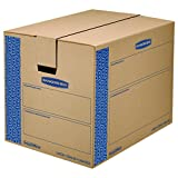 Bankers Box SmoothMove Prime Moving Boxes, Tape-Free and Fast-Fold Assembly, Large, 24 x 18 x 18 Inches, 6 Pack (0062901)