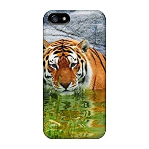 AbbyRoseBabiak KNj9508woVh Cases Covers Iphone 5/5s Protective Cases Water Animals Tigers