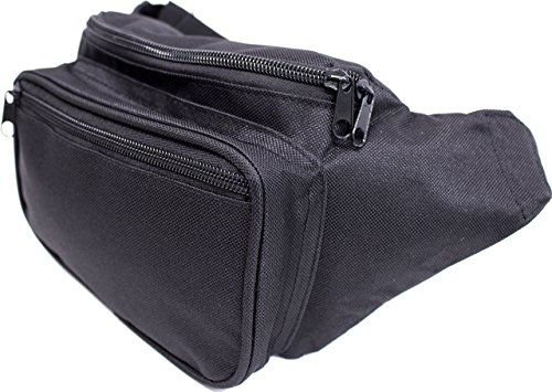 SoJourner Black Fanny Pack - Packs for men, women | Cute Festival Waist Bag Fashion Belt Bags by SoJourner Bags