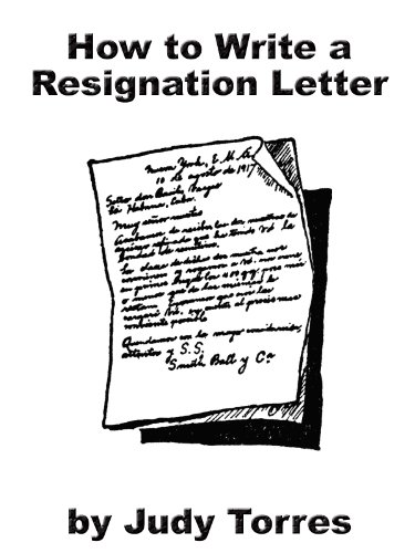 Amazon How To Write A Resignation Letter Ebook Judy Torres