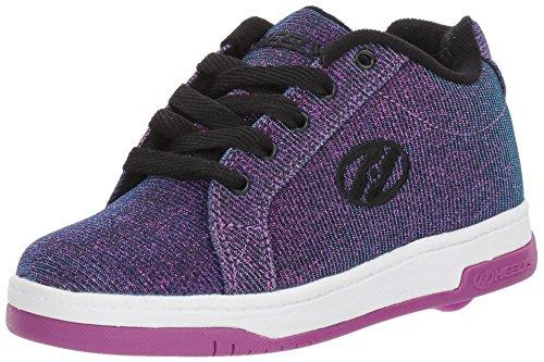 Heelys Split Sneaker, Purple/Aqua, 3 Medium US Big Kid