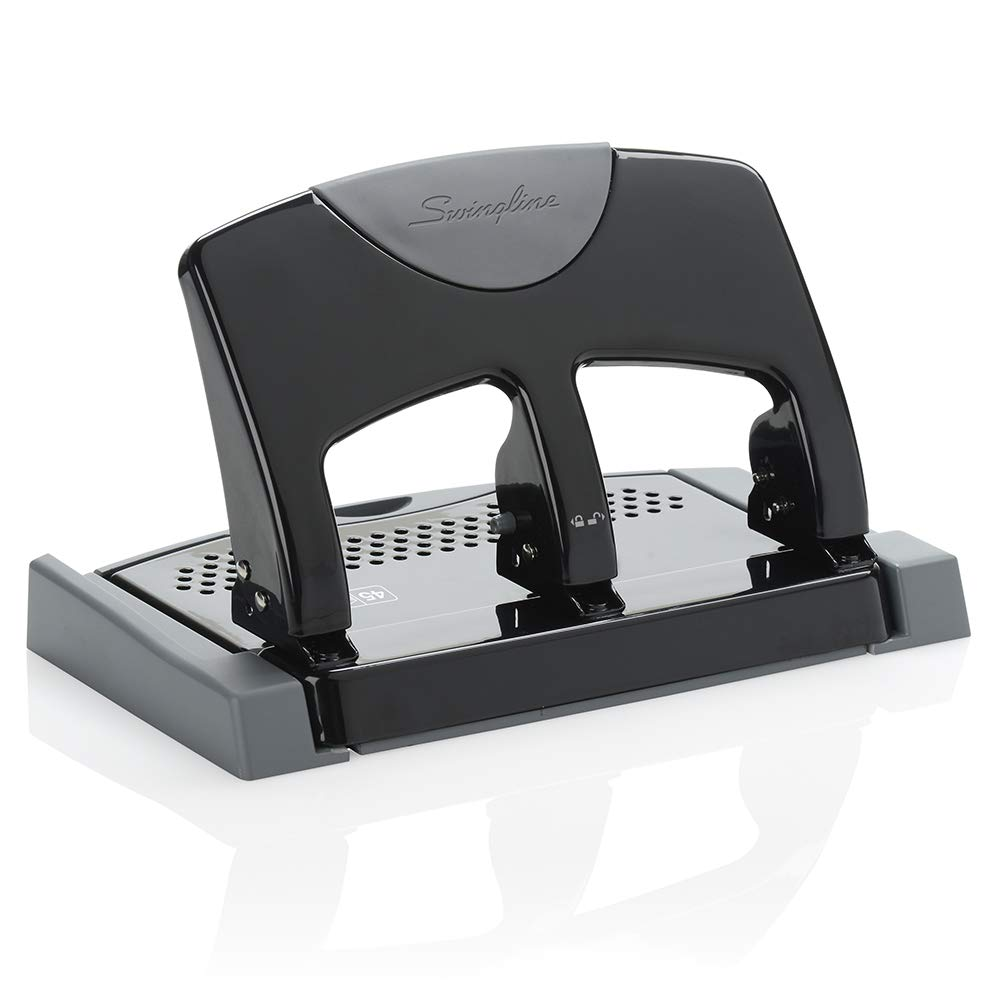 Swingline 3 Hole Punch, Low Force, 12 Sheets Punch Capacity, SmartTouch (A7074134) ACCO Brands