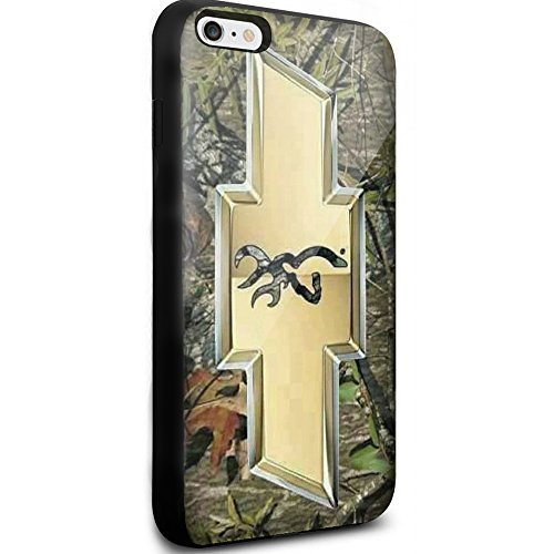 Chevy Logo with a Deer on the Inside for Iphone and Samsung Galaxy (iphone 6 / 6s black)