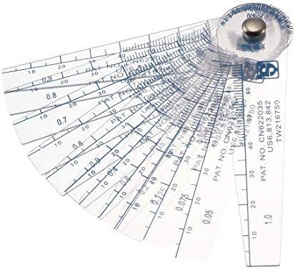 sourcingmap® 0,05-1mm Dicke Kunststoff Fühler Messgerät Lückenfüller messen Werkzeug 13 in 1 de