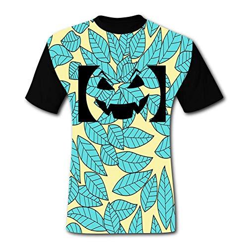 Pumpkin Smiley Face Lamp Black Short-Sleeved Fashion T-Shirt XXL ()