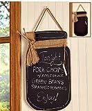 Antique Country Mason Jar Kitchen Wooden Chalkboard