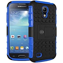 Galaxy S4 Case, Samsung Galaxy s4 Cases [HEAVY DUTY] Protective Tough Armorbox Dual Layer S4 Phone Cases With Hybrid Hard/Soft Cover by Cable and Case [Compare To Otterbox & Lifeproof] - (Blue)
