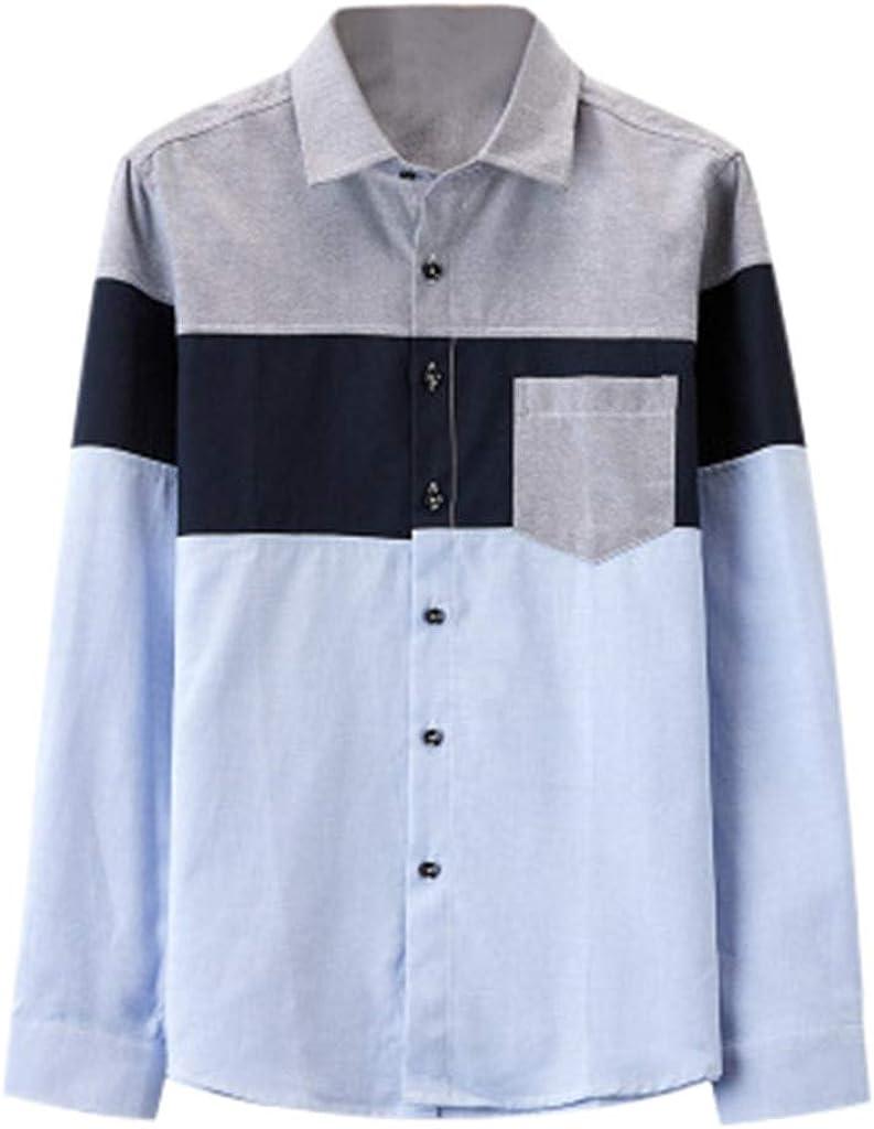 Sylar Camisas De Hombre Manga Larga Clásico Básica Botón Formal Negocio Camisa Camiseta De Hombre Slim Fit Camisa A Cuadros Rejilla De Diamante Tops Blusa De Patchwork para Hombre Otoño: Amazon.es: Ropa