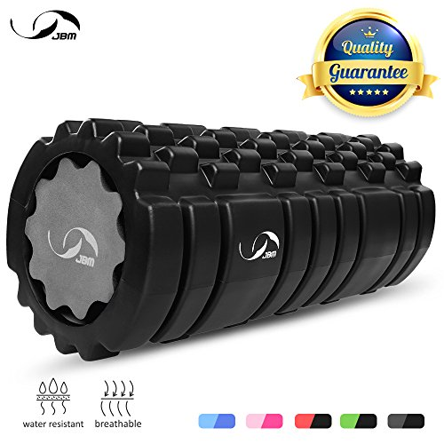 JBM Foam Roller Deep Tissue Massage Roller for Tight Muscle Exercises Roller Pink Blue Black Massage Back IT Bands Leg Arms Body Roller Help Muscle Stretch Physical Therapy Myofascial Release