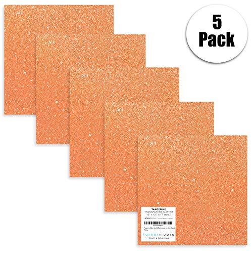 (Turner Moore Edition, Tangerine Orange Glitter Vinyl Adhesive - 12