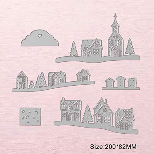 Best Quality - Cutting Dies - Metal Cutting Dies Christmas Scrapbooking Cutting Stencil Craft Dies Hometown Village Building Card Making Die Cuts - by SeedWorld - 1 PCs