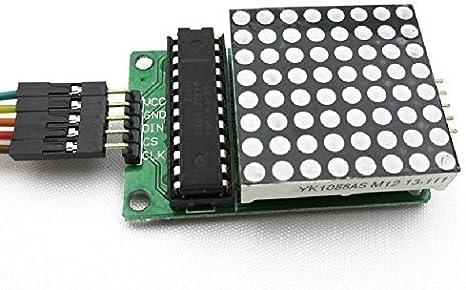 5pcs MAX7219 Dot matrix module MCU control Display module for Arduino DIY set