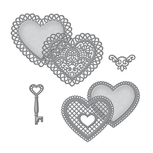 Spellbinders S5-204 Shapeabilities Lace Hearts Die Templates