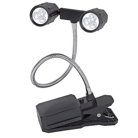 Paquete de 2 Rotación 360 ° LED ajustable Barbacoa Parrilla ...