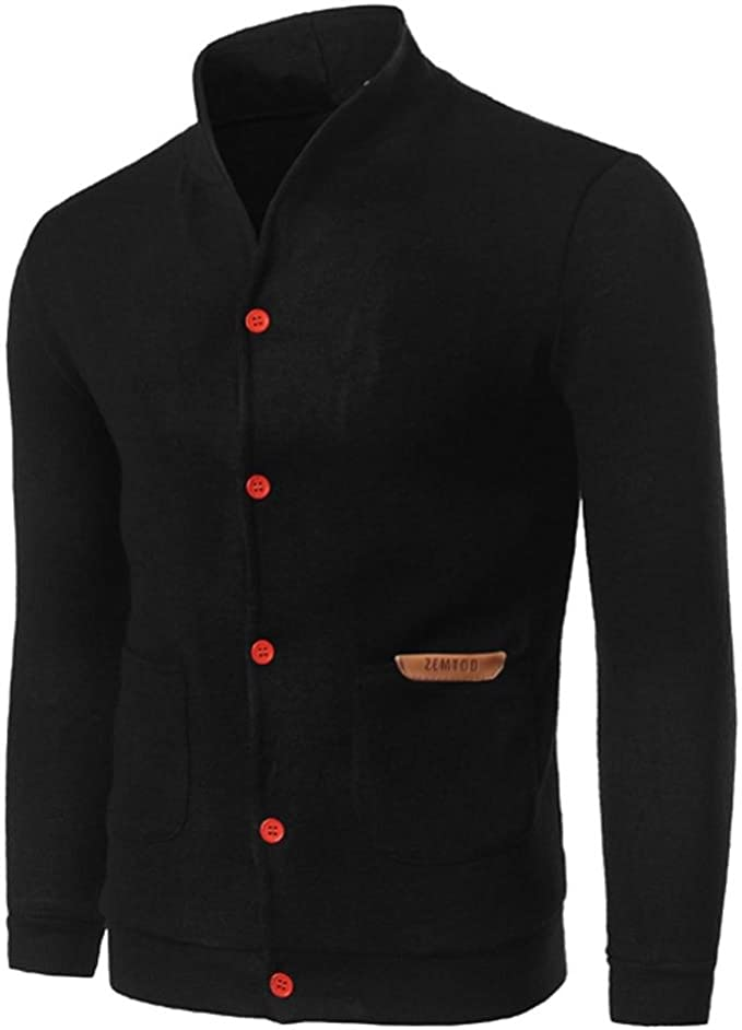 Men/'s Slim Giacche IN PELLE COLLARE moda giacca cappotto outwear Tops Casual HOT