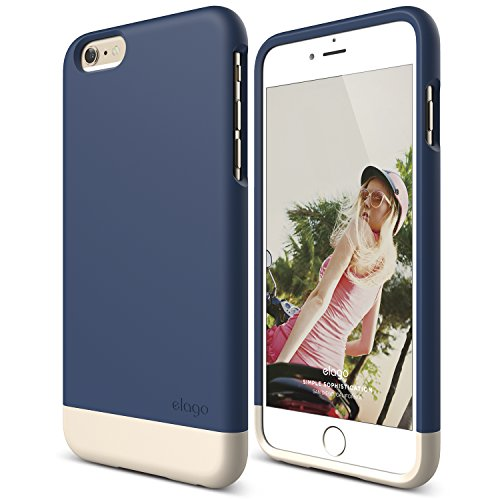 iPhone 6 Plus Case, elago [Glide][Jean Indigo/Champagne Gold] - [Mix and Match][Premium Armor][True Fit] - for iPhone 6 Plus Only