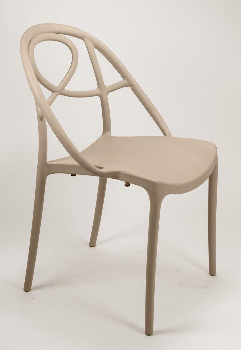 Lote de 2 sillas Curly diseño en plástico apilable para ...