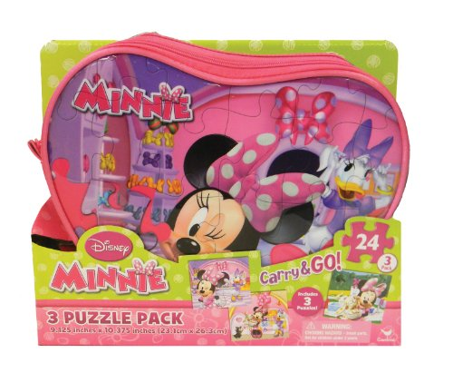 Minnie Mouse Carry and Go Jigsaw Puzzle in Bags