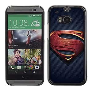 A-type Arte & diseño plástico duro Fundas Cover Cubre Hard Case Cover para HTC One M8 (Superhero S)