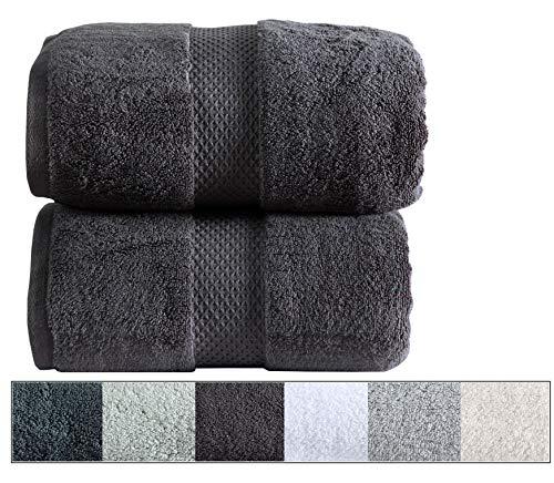 Royal Ascot 100% Zero Twist Cotton Towel Set 2 pc Set- 2 Large Bath Sheets, 550 GSM, Softer Than a Cloud, Absorbent, Machine Washable, Plush, SPA Towels