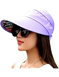 fcac97c4b92 Sun Visor Hats Women s Wide Brim Sun UV Protection Visor Hats for Fishing  Runner Beach