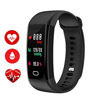 F07 OLED Color Pantalla Bluetooth Smart Band Pulsera IP68 Impermeable Swim Heart Rate Monitor Smartband para Android, 0.44, color negro: Amazon.es: Deportes ...