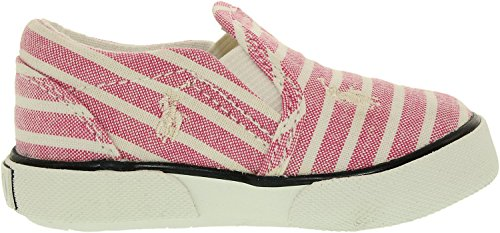 Polo Ralph Lauren Kids Balharbrrpt PK BNG STP-WT Fashion Sneaker (Toddler/Little Kid), Pastel Pink/Bengal Stripe, 11 M US Little Kid