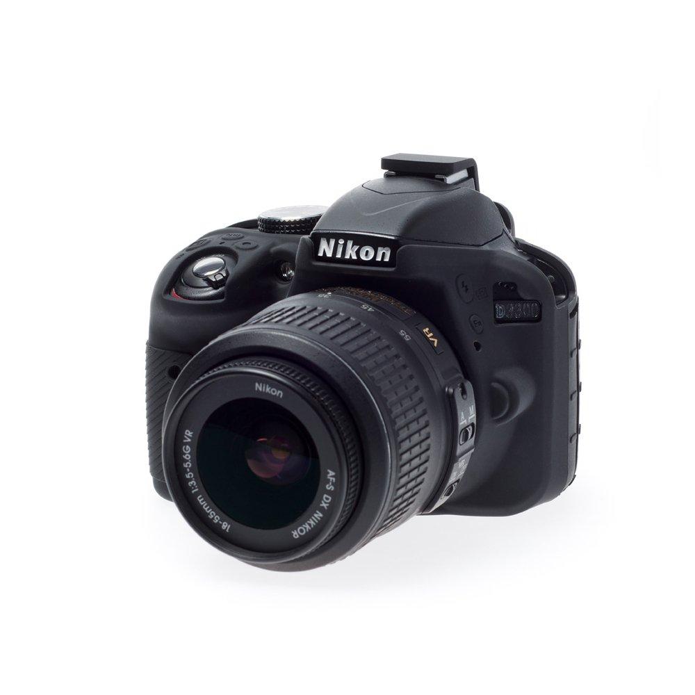 Easycover ECND3300B - Funda de Silicona para Nikon D3300, Color Negro
