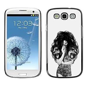 PC/Aluminum Funda Carcasa protectora para Samsung Galaxy S3 I9300 Wash cut blow / JUSTGO PHONE PROTECTOR