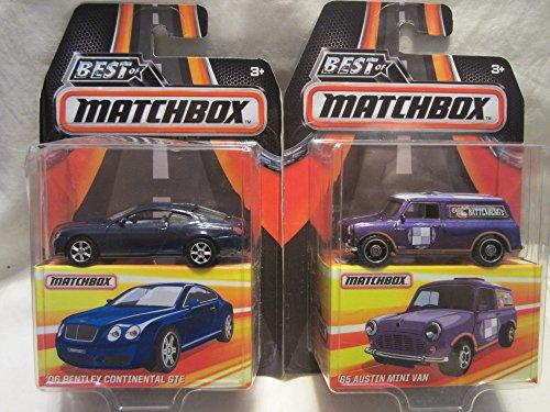 (Matchbox Best of 06 Bentley Continental GTE & '65 Austin Mini Van Die Cast 1/64 Scale 2 Car Bundle!)